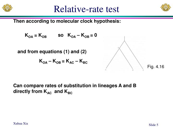 Relative-rate test