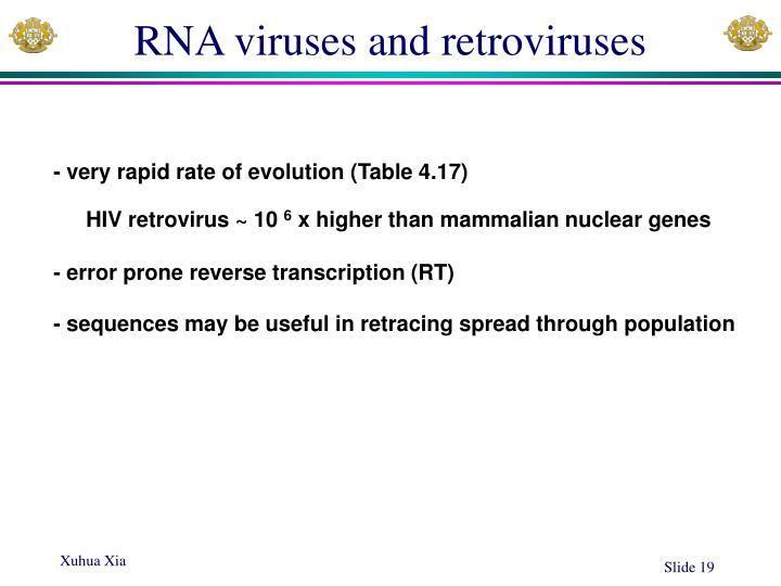 RNA viruses and retroviruses