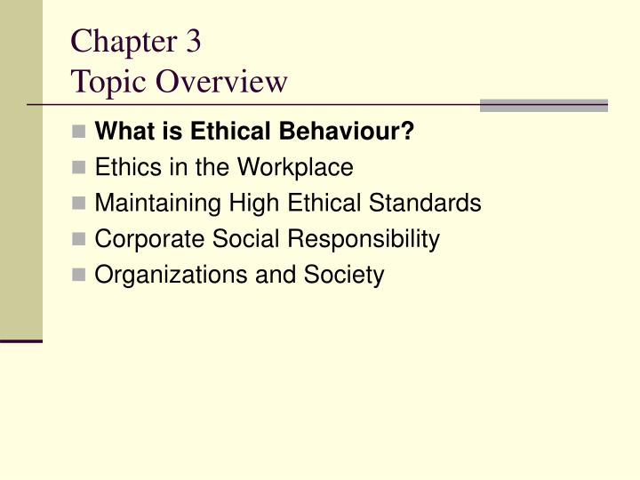 Chapter 3 topic overview