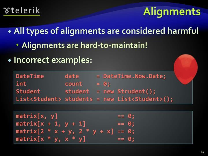 Alignments