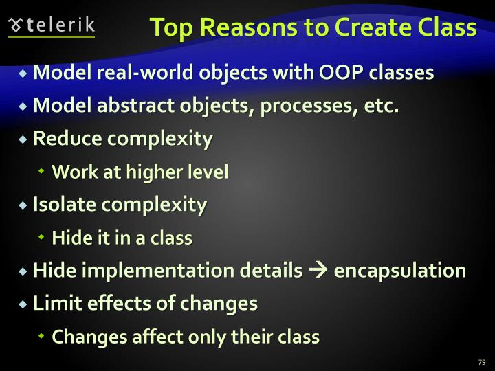Top Reasons to Create Class