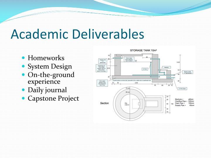 Academic Deliverables