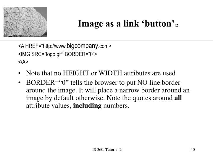 Image as a link 'button'