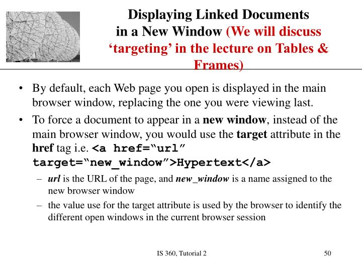 Displaying Linked Documents