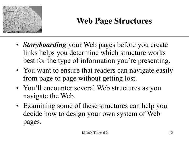 Web Page Structures