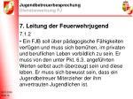 jugendbetreuerbesprechung dienstanweisung fj14
