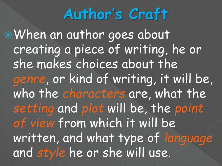 Author's Craft