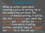 author s craft