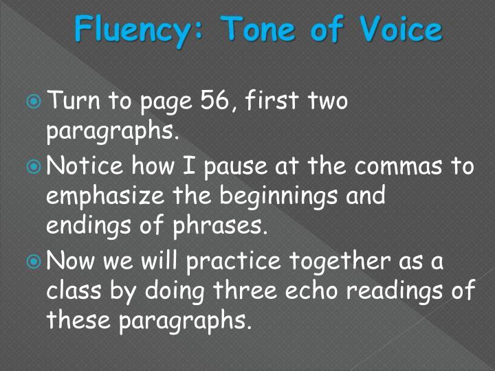 Fluency: Tone of Voice