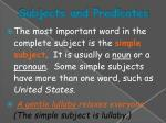 subjects and predicates2