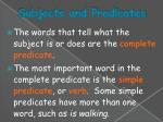 subjects and predicates3