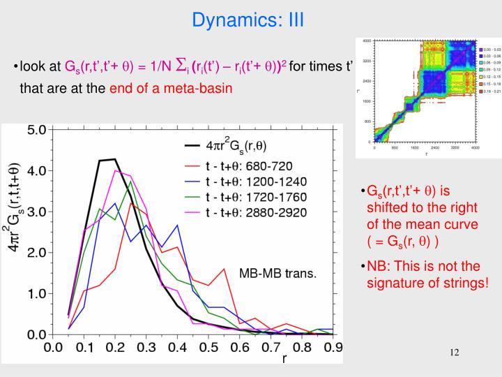 Dynamics: III