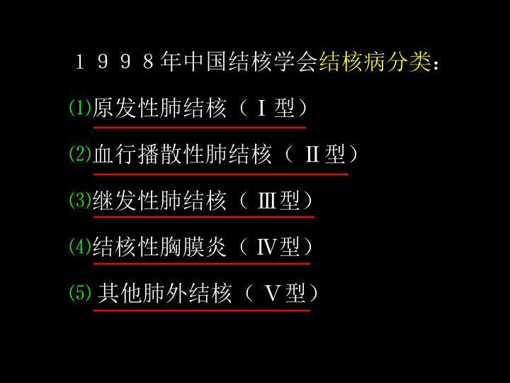 1998年中国结核学会