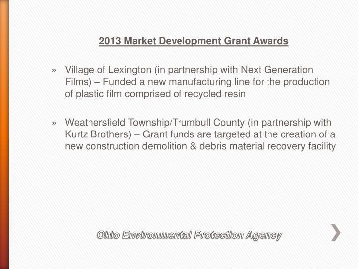 2013 Market Development