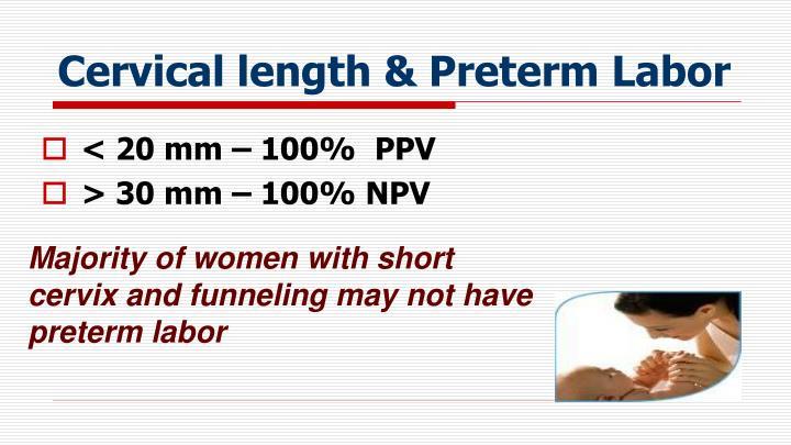 Cervical length & Preterm Labor