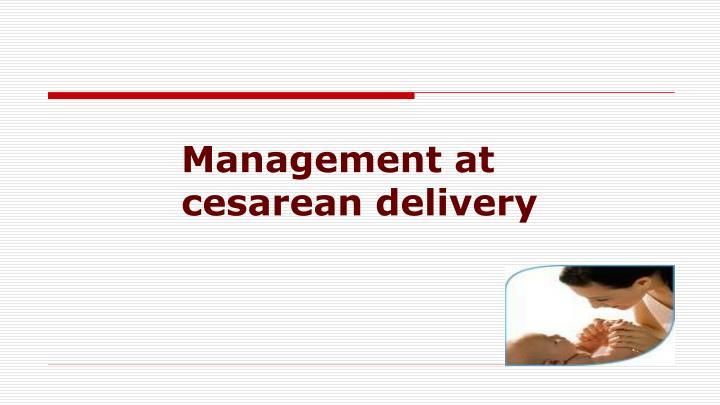 Management at