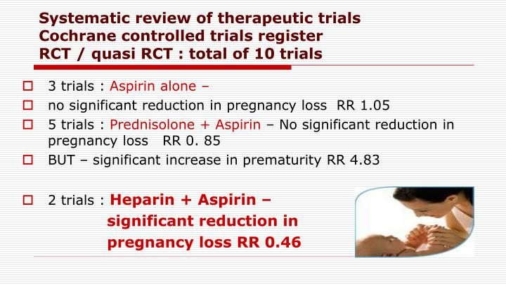 Systematic review of therapeutic trials