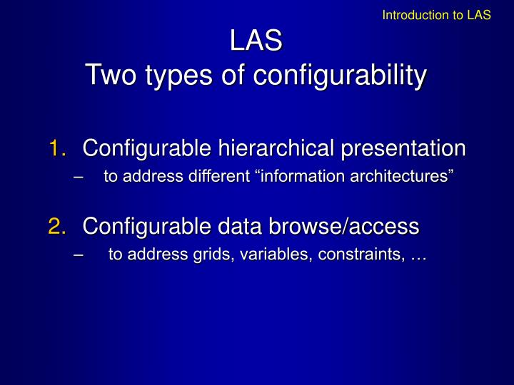 Introduction to LAS