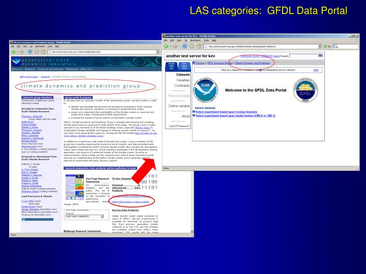 LAS categories:  GFDL Data Portal