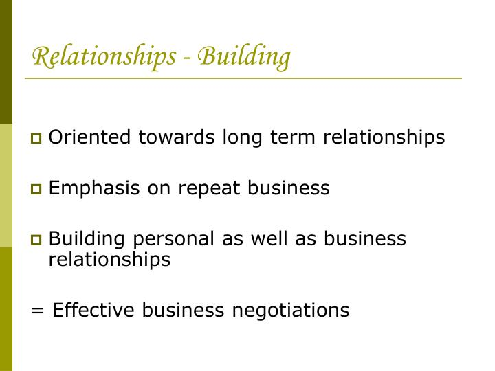 Relationships - Building