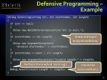 defensive programming example