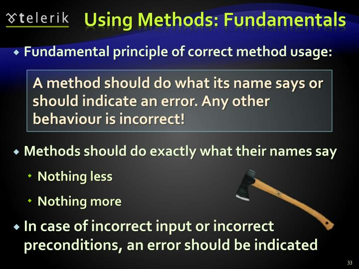 Using Methods: Fundamentals