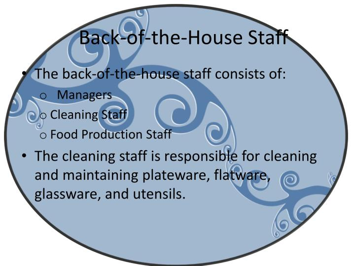 Back-of-the-House Staff