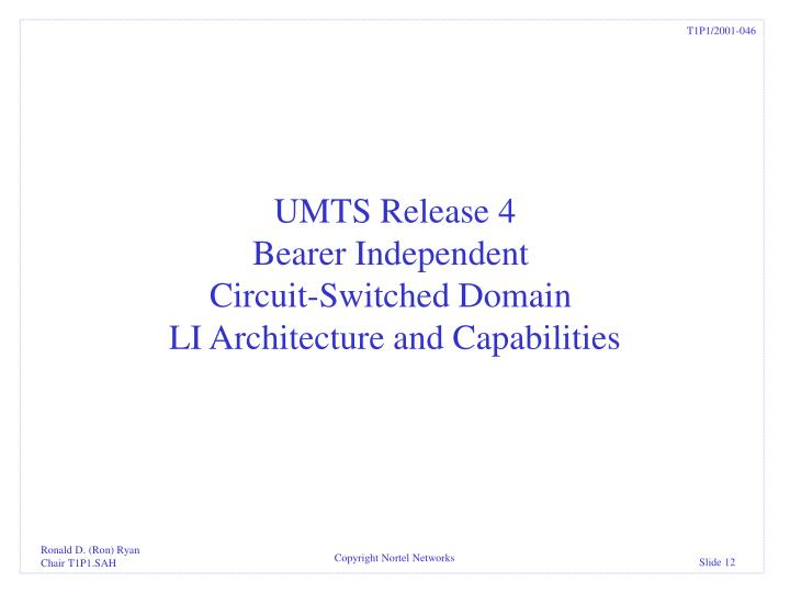 UMTS Release 4