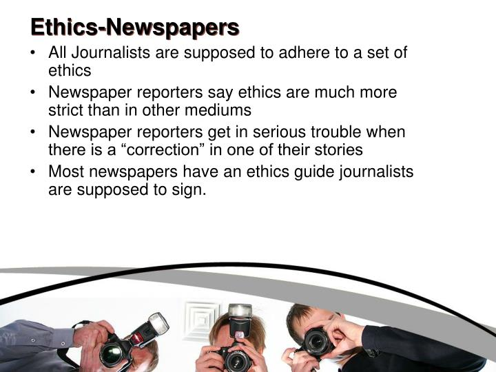 Ethics-Newspapers