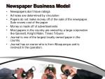 newspaper business model