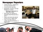 newspaper reporters