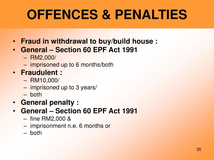 OFFENCES & PENALTIES