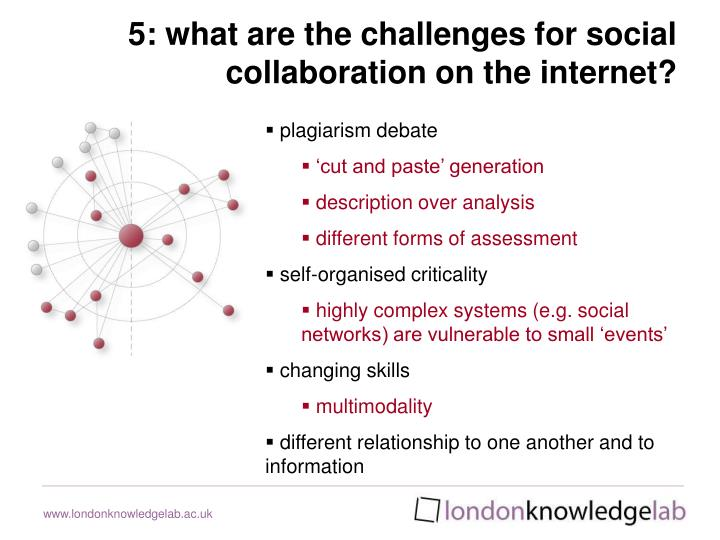 5: what are the challenges for social collaboration on the internet?