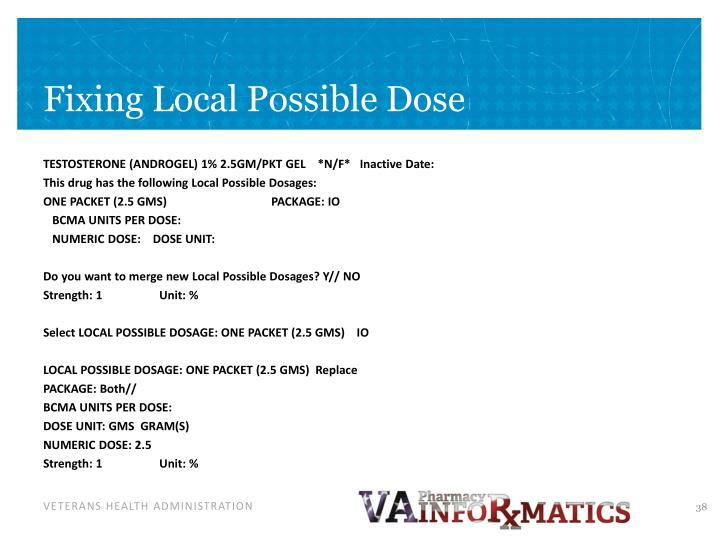 Fixing Local Possible Dose