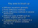 key area to brush up