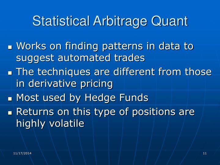Statistical Arbitrage Quant