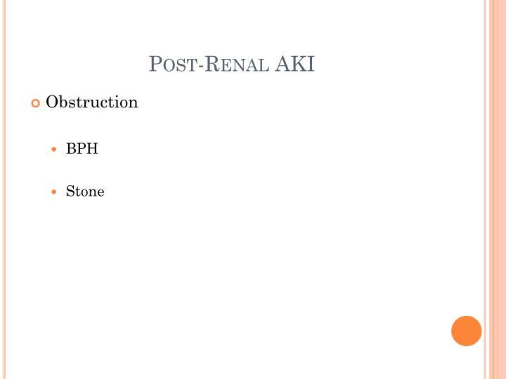 Post-Renal AKI