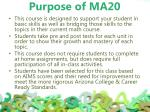 purpose of ma20