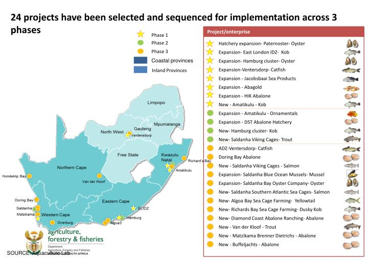 24 projects have been selected and sequenced for implementation across 3 phases