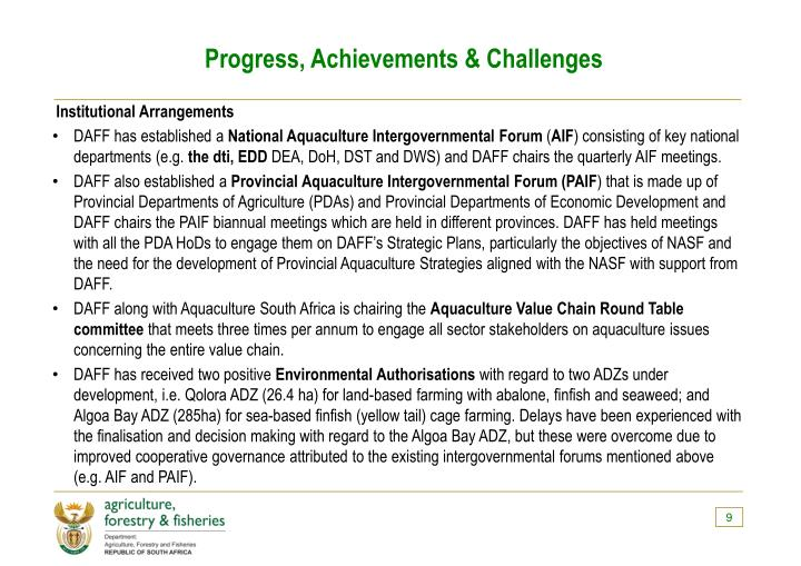 Progress, Achievements & Challenges