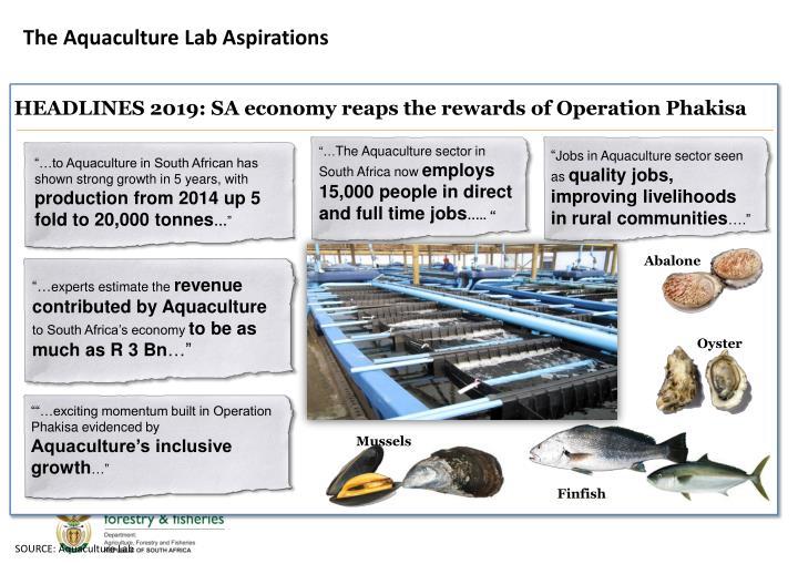 The Aquaculture Lab Aspirations