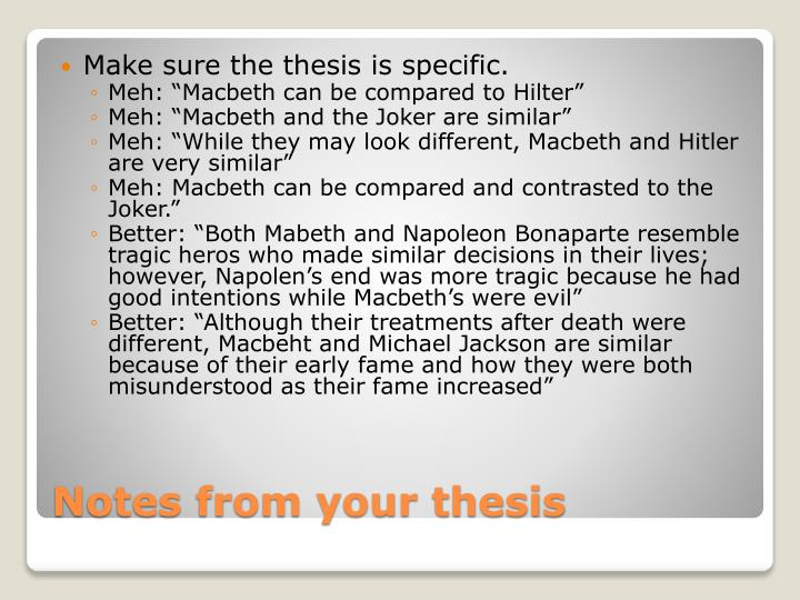 Notes from your thesis