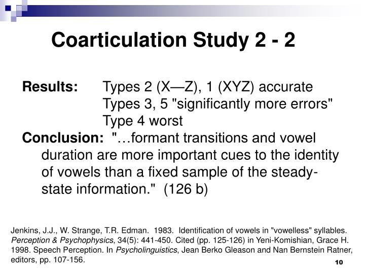 Coarticulation Study 2 - 2