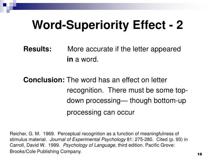 Word-Superiority Effect - 2