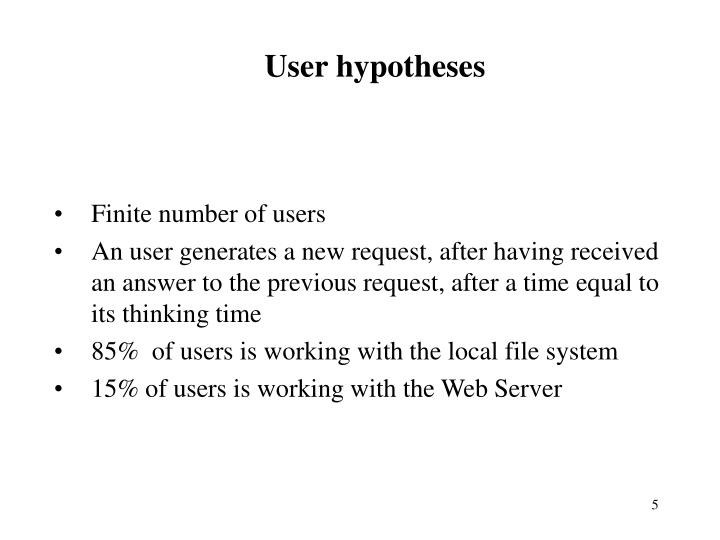 User hypotheses