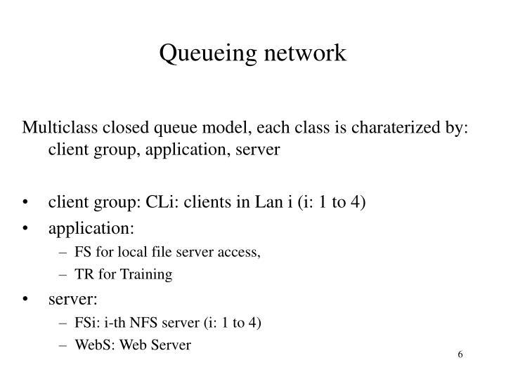 Queueing network