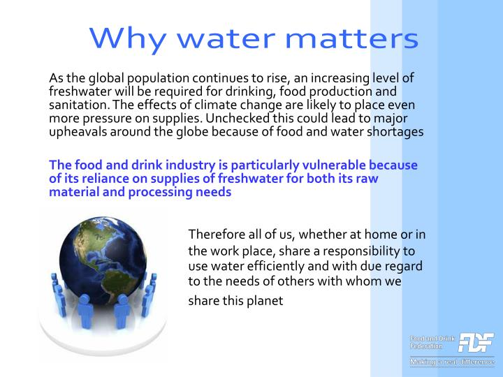 Why water matters