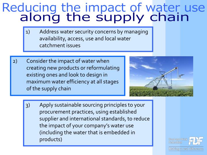 Reducing the impact of water use