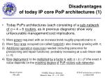 disadvantages of today ip core pop architectures 1