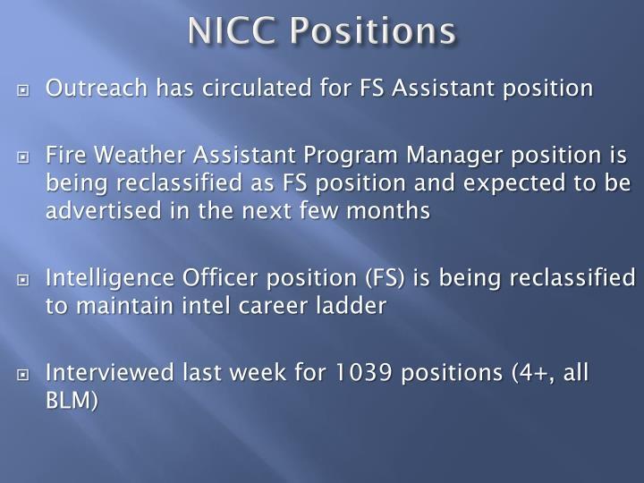 NICC Positions